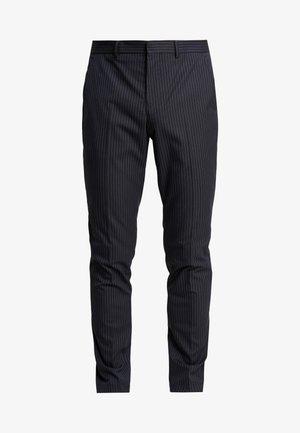 SLHSLIM MATHREP PIN STRIPE - Trousers - dark navy