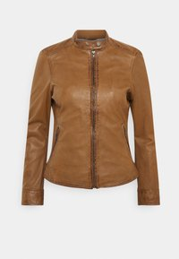 Oakwood - LINA - Leather jacket - cognac - 4
