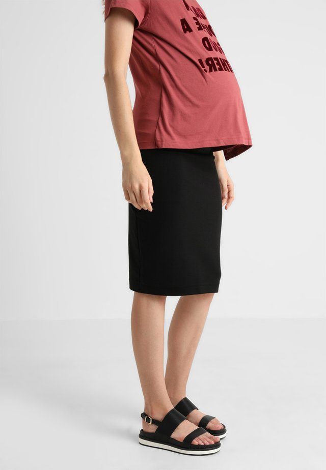 ONCE ON NEVER OFF PENCIL SKIRT - Pennkjol - black