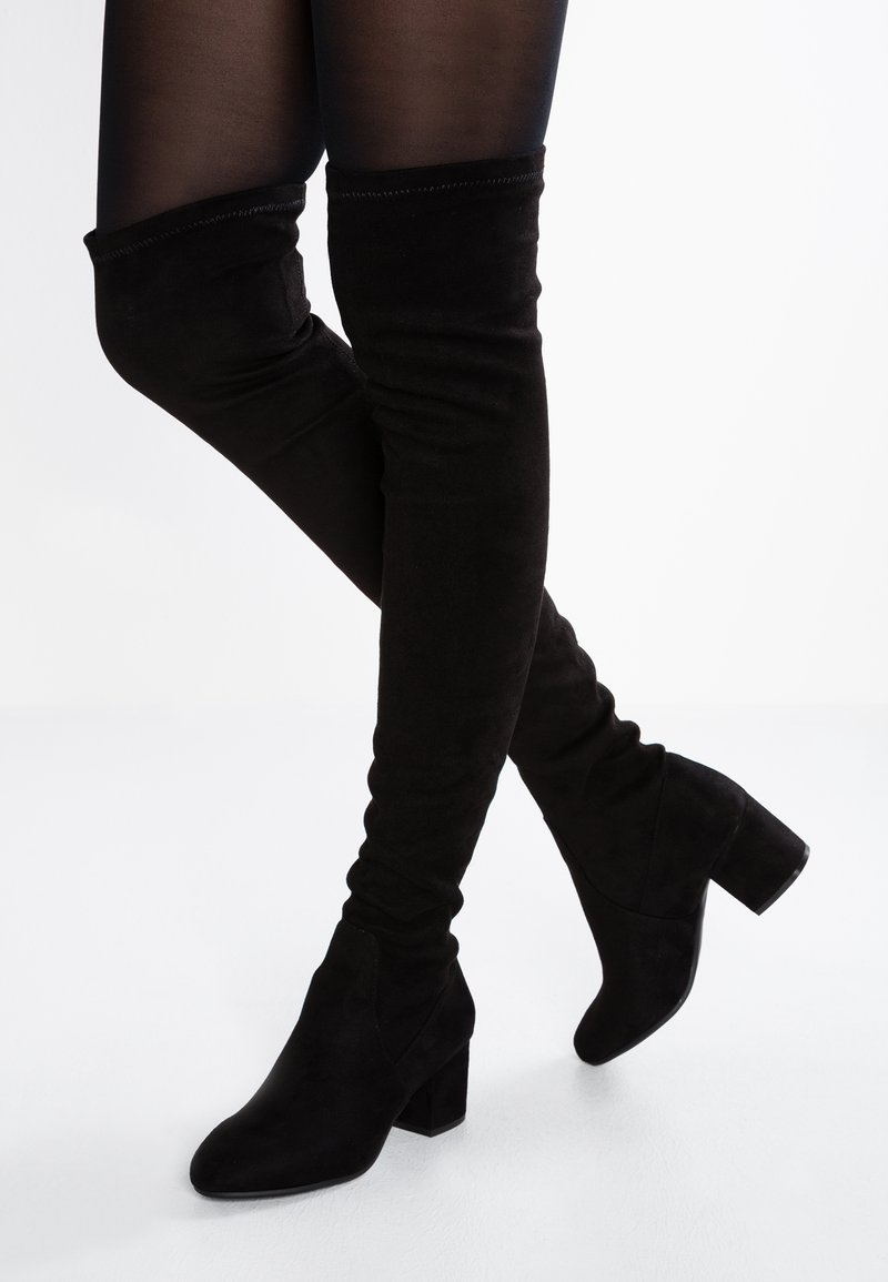 Steve Madden - ISAAC - Over-the-knee boots - black
