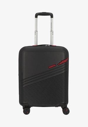 Wheeled suitcase - black-red