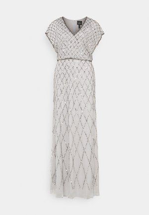 BLOUSON BEADED DRESS - Occasion wear - bridal silver