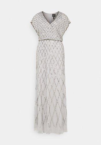 BLOUSON BEADED DRESS - Abito da sera - bridal silver