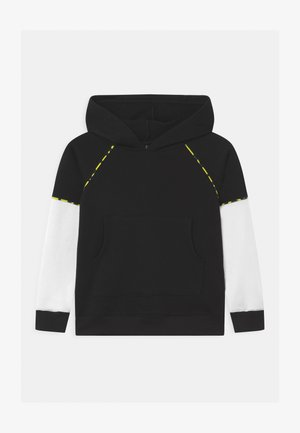 COLOR BLOCK HOODIE UNISEX - Hoodie - black