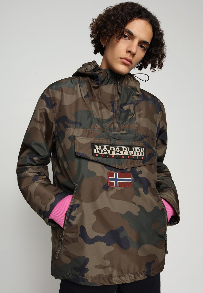 Napapijri - RAINFOREST SUMMER PRINT - Vindjacka - dark green