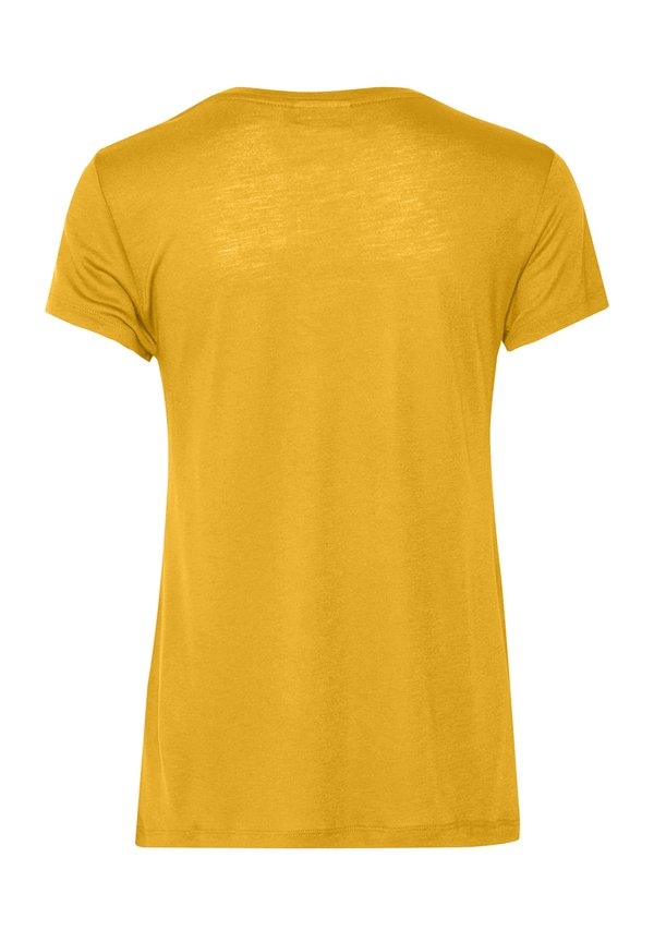 Kaffe ANNA O-NECK - T-shirt basic - golden rod Odzież Damska BFES PS 2