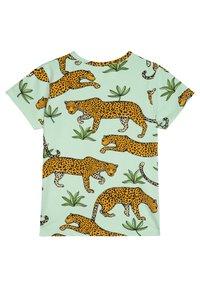 The Striped Cat - LEOPARD - Print T-shirt - green mist - 1