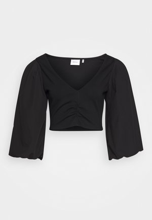 CROPPED BLOUSE  - Bluse - black