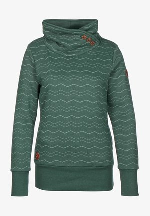 CHEVRON - Sweatshirt - dark green