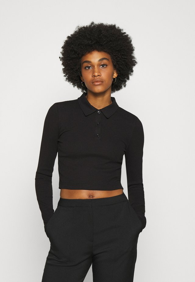 ERIN LONG SLEEVE - Polo - black