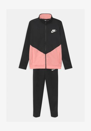 CORE SET - Tracksuit - black/bleached coral/white