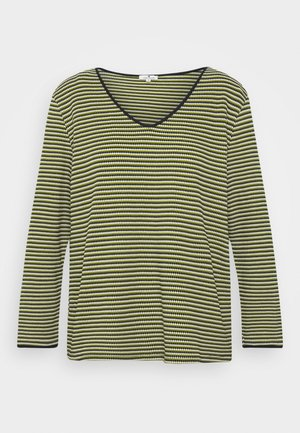 Long sleeved top - green/navy