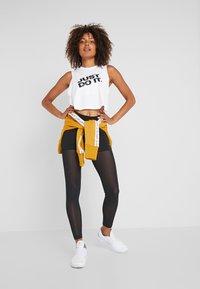 Nike Performance - MARBLE CROP TANK - Funkční triko - white/black - 1
