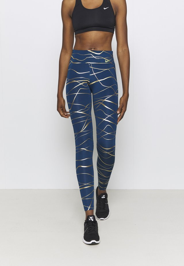 FAST  - Leggings - valerian blue/metallic gold