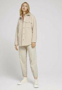 TOM TAILOR DENIM - Fleece jacket -  beige - 1