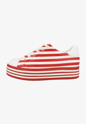 Sneakers - white red