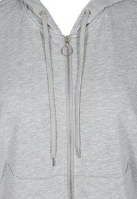 Active by Zizzi - Zip-up sweatshirt - light grey melange - 5