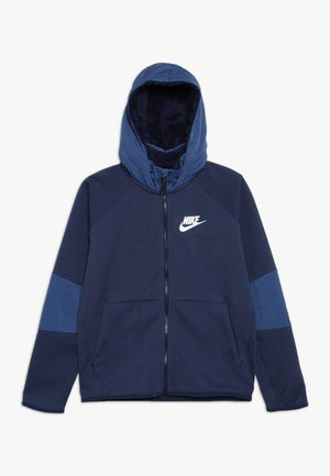 WINTERIZED - Zip-up hoodie - midnight navy/heather/mystic navy/white