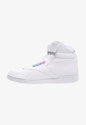EX-O-FIT LEATHER SHOES - Korkeavartiset tennarit - white