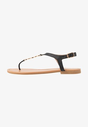 WIDE FIT HOXTON - T-bar sandals - black