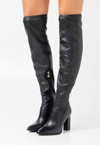 Tamaris Heart & Sole - BOOTS - Kozačky na vysokém podpatku - black - 0