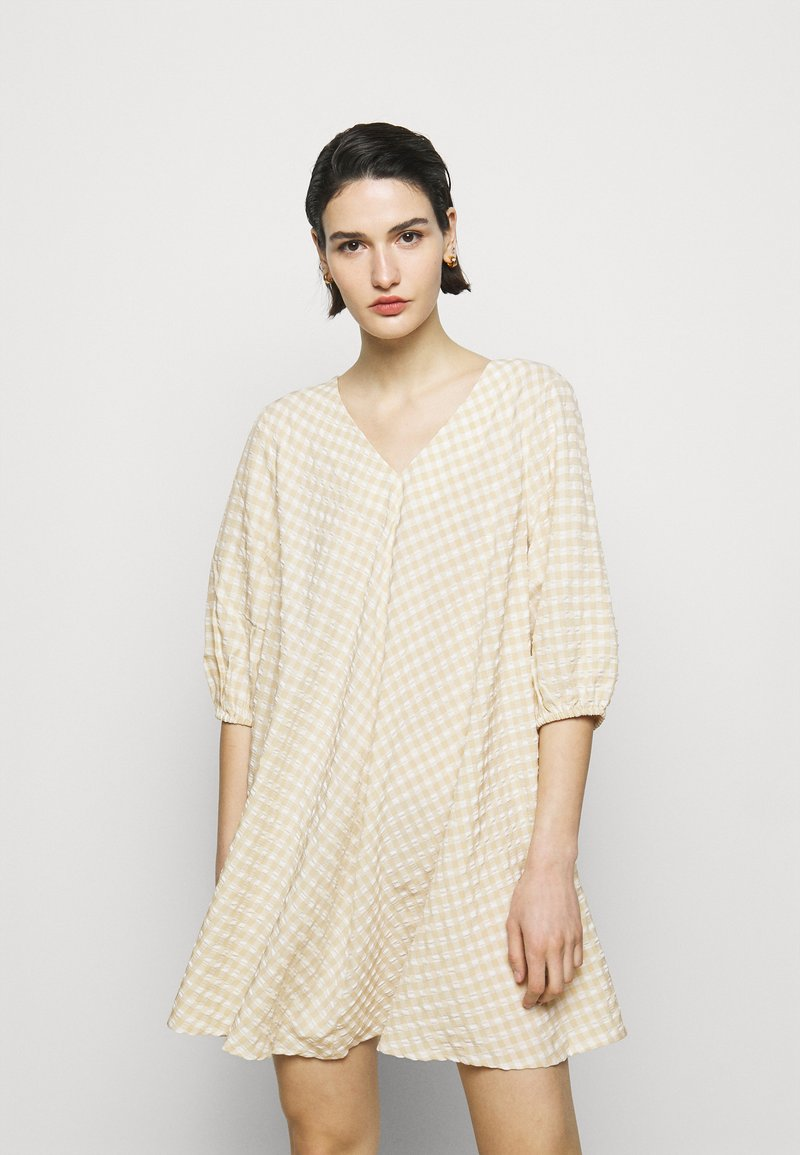 Bruuns Bazaar - SEER ALLURE DRESS - Day dress - sand/white check