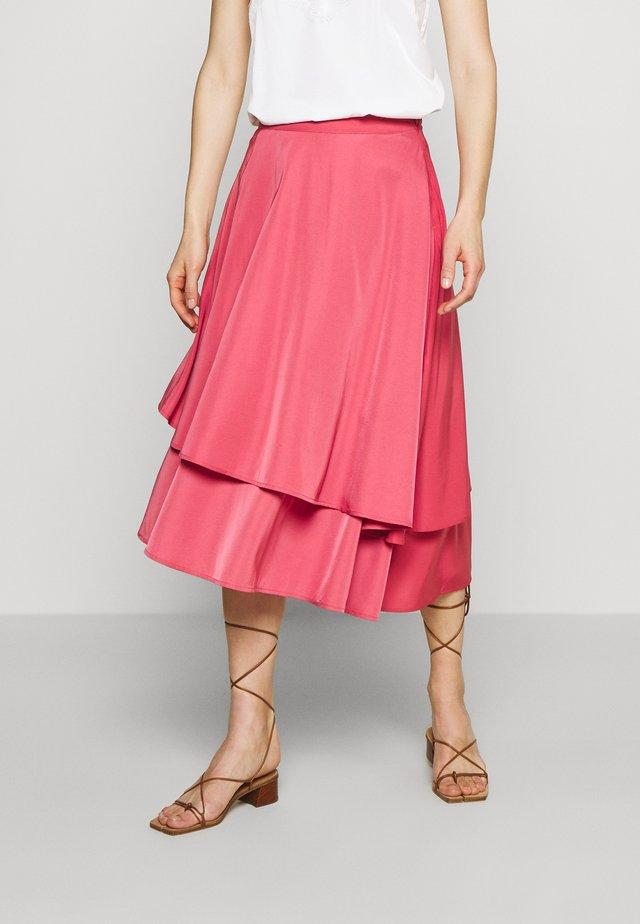 SKIRT MILA - Áčková sukně - hollyberry