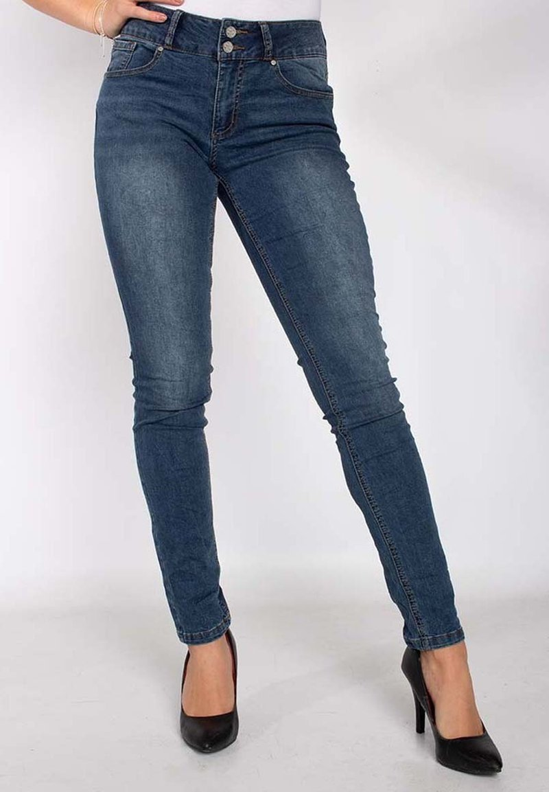 Buena Vista - TUMMYLESS  - Slim fit jeans - mid stone