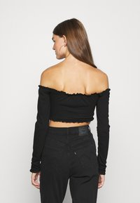 Nly by Nelly - CROPPED DRAWSTRING - Long sleeved top - black - 2