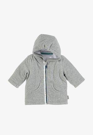 KAPUZEN JACKE ERIK - Zip-up sweatshirt - silver