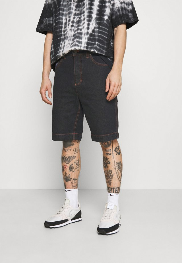RINSE - Denim shorts - black