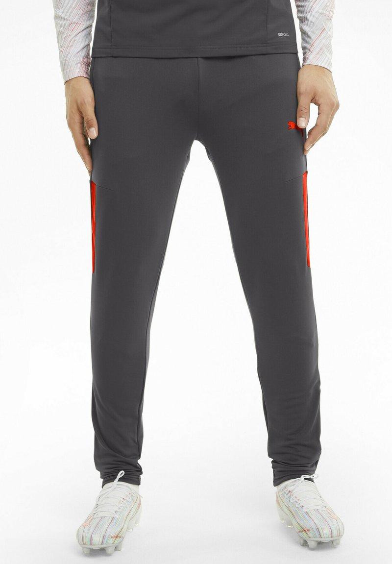 Puma - TEAMLIGA TRAINING PANTS PRO - Pantaloni sportivi - asphalt-red blast