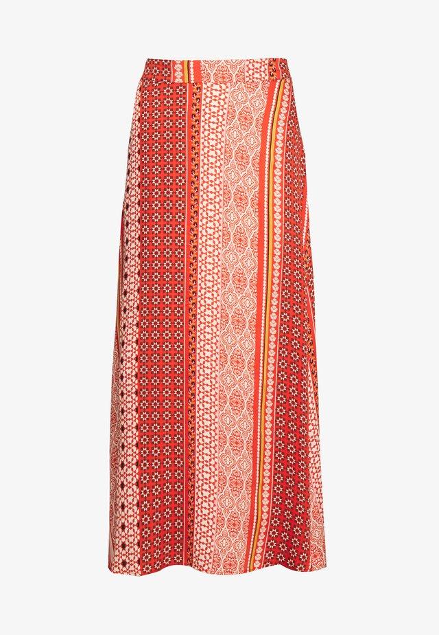 ZALAN SKIRT - A-line skirt - mecca orange
