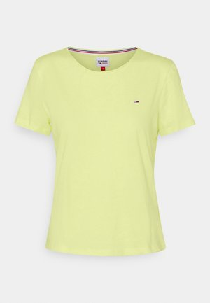 SLIM CNECK - Jednoduché triko - faded lime