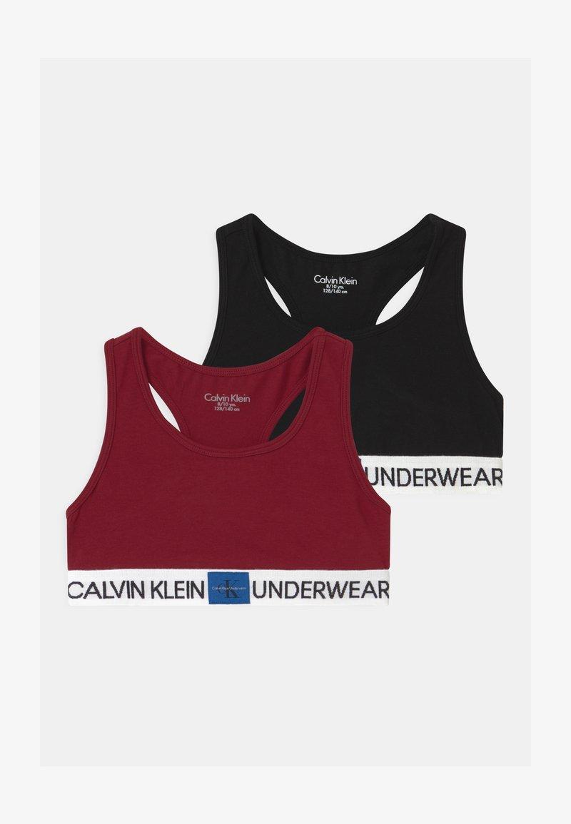Calvin Klein Underwear - 2 PACK - Korzet - rhubarb/black