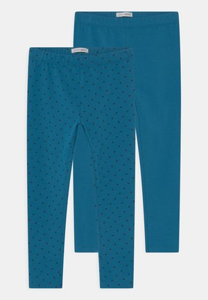 SMALL GIRLS 2 PACK - Leggings - Trousers - blue saphire