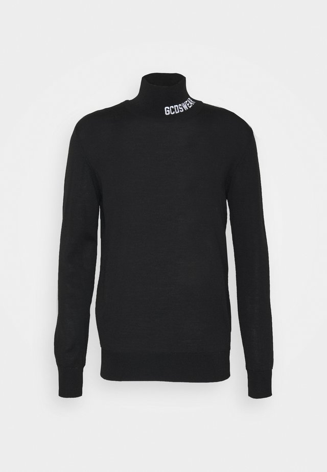 FULL LOGO TURTLENECK - Strikkegenser - black