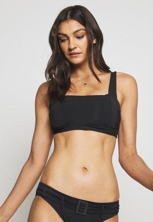 SQUARE NECK - Bikini top - black