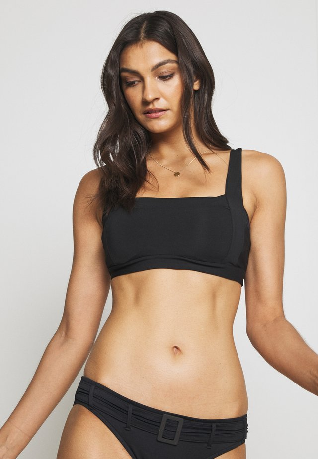 SQUARE NECK - Góra od bikini - black