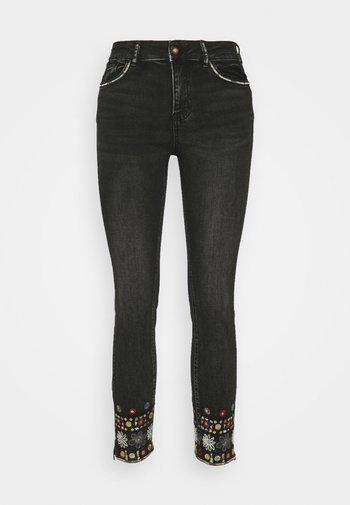 LESLIE - Jeans Skinny Fit - denim black wah