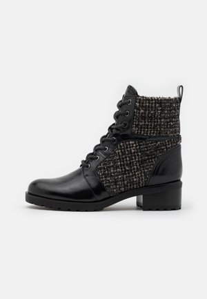 BRONTE BOOT - Lace-up ankle boots - black/natural