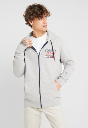 ESSENTIAL GRAPHIC ZIP TROUGH - veste en sweat zippée - light grey heather