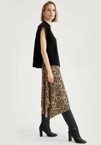 DeFacto - A-line skirt - beige - 4