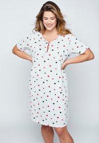 Ulla Popken - 2 PACK - Pyjama top - zwart - 0