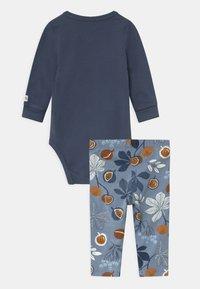 Lindex - CHESTNUT SET - Leggings - Trousers - dusty blue - 1