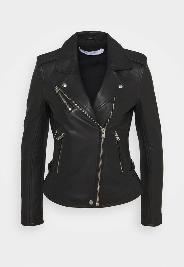 NEWHAN - Leather jacket - black