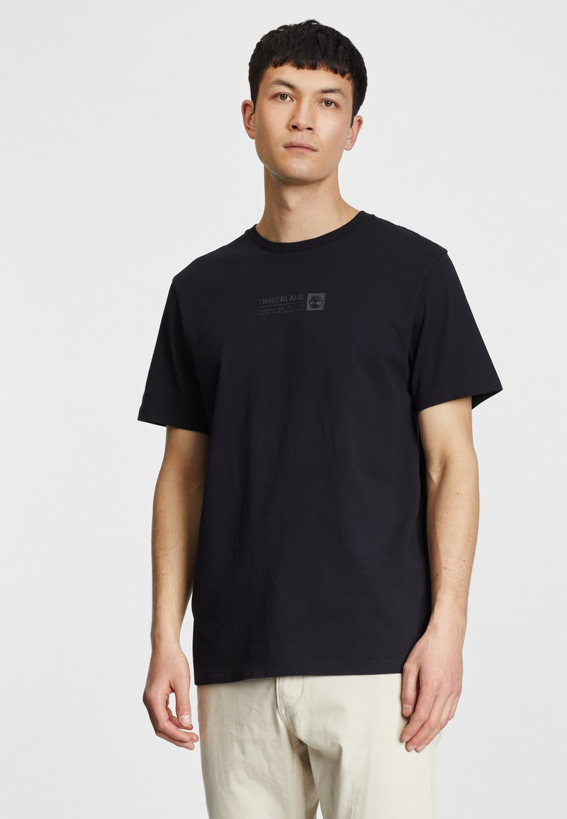 Timberland - BRAND CARRIER - T-shirt med print - black