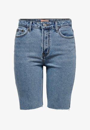 JEANSSHORTS ONLEMILY HW LONG - Denim shorts - light blue denim