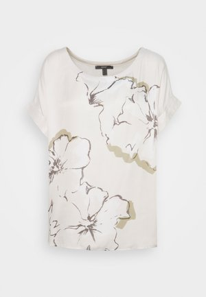 Print T-shirt - light beige