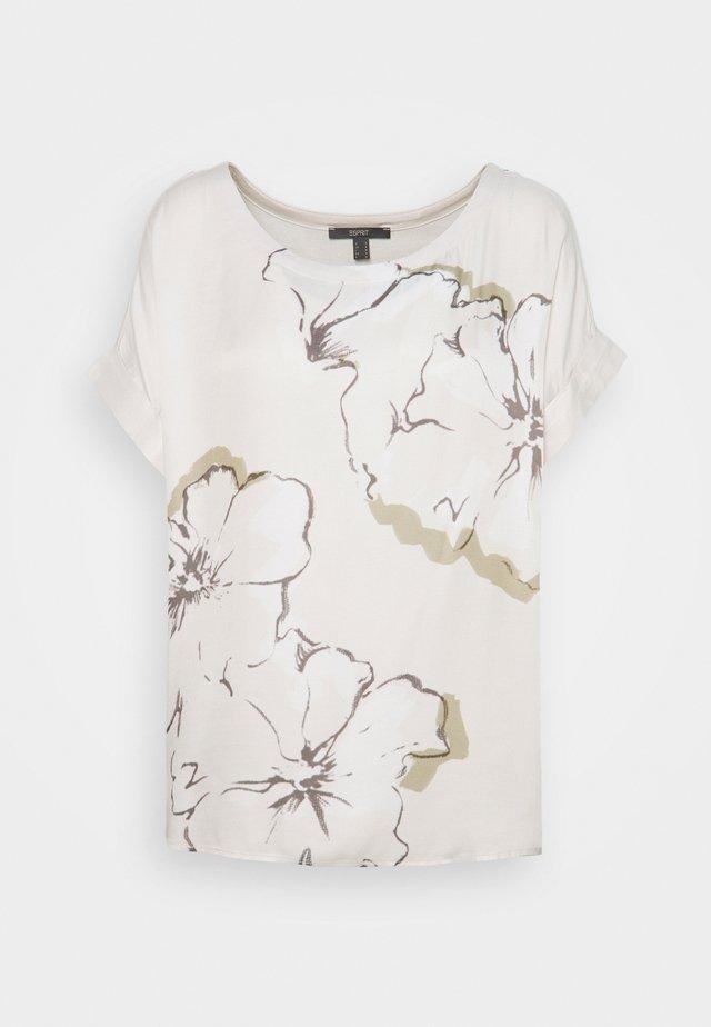 Print T-shirt - light beige